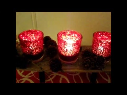 Glitter candle holders DIY