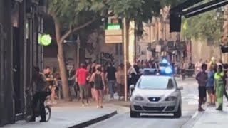 Van ploughs into tourists in Barcelona street