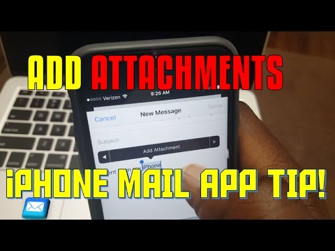 EASY TIP: HOW TO ADD ATTACHMENTS IN iPHONE MAIL APP