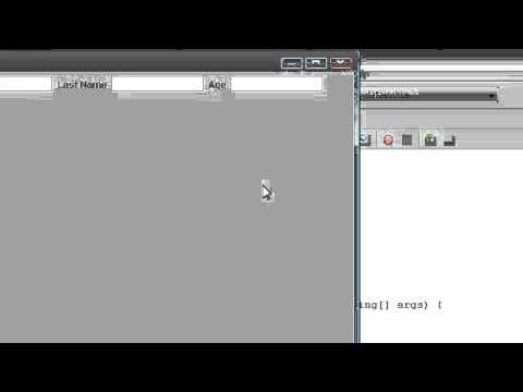 Java - Ms Access Database Application - 3 - Creating GUI for Database Application