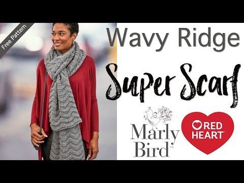 Crochet Wavy Ridge Super Scarf