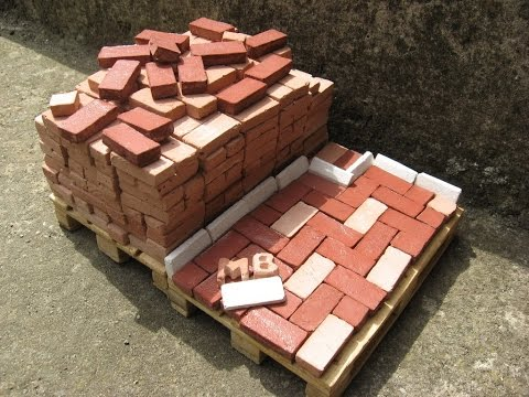 How To Make Miniature Bricks 1:10 (Home Made)
