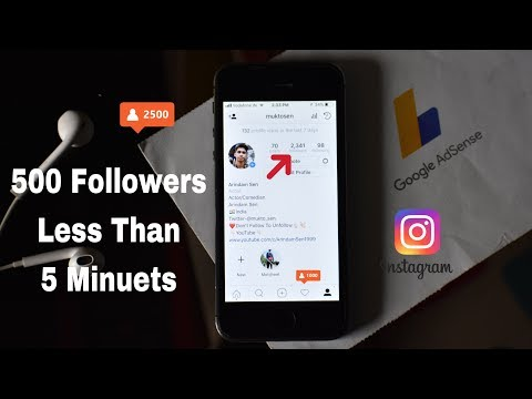 How To Get 500 Instagram Followers Less Than 5 Minutes!!(100% Working)