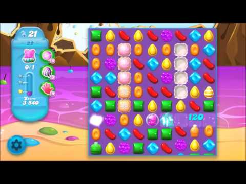 Candy Crush Soda Level 22 *Get the bear above the candy string*
