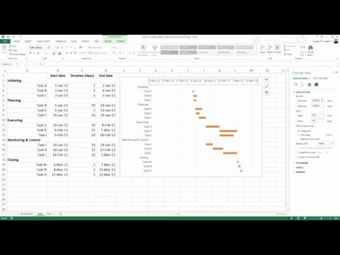 How To... Create a Basic Gantt Chart in Excel 2013