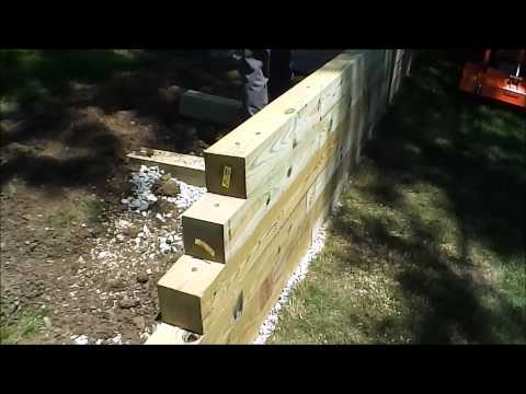 HOW TO: Build a Timber Wall