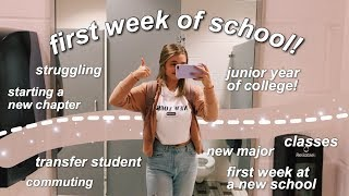 Download first week of school VLOG // college junior + transfer student Video
