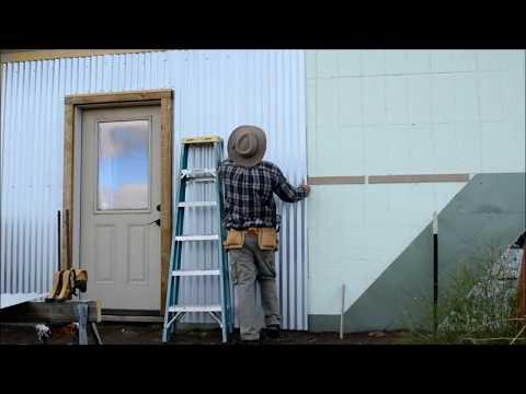 DIY - corrugated steel siding install on ICF - Part 4  - Off Grid Homestead