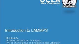 The LAMMPS Input Script - Part 2 - PakVim net HD Vdieos Portal