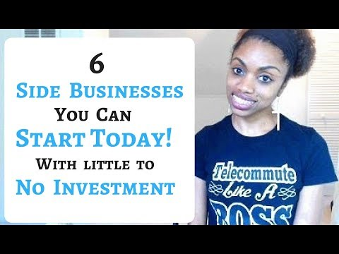 6 Side Businesses You Can Start TODAY! Requiring Little To No Cash.