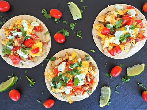 Breakfast Recipe: Breakfast Tacos by Everyday Gourmet with Blakely