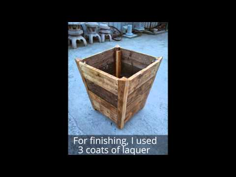 How to make a wood planter from pallet wood