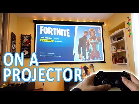 Fortnite Gameplay on Projector // Advantages // Setup + Tips