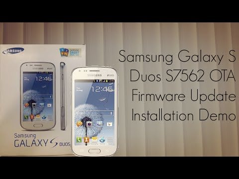 Galaxy S Duos S7562 OTA Firmware Update Installation Demo