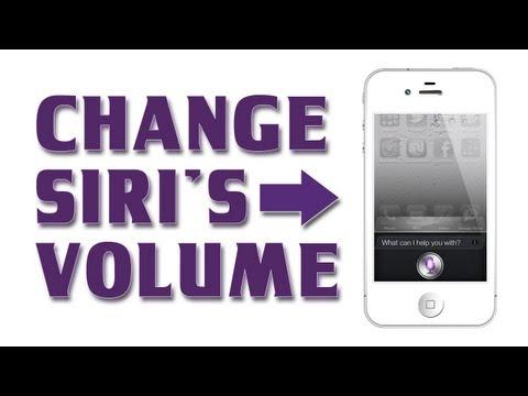 How to Use Siri iPhone 5 / 4S / iPad - Change Siri's Volume or Mute Siri