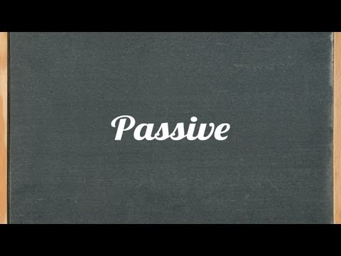 Passive voice lesson - English grammar tutorial video lesson