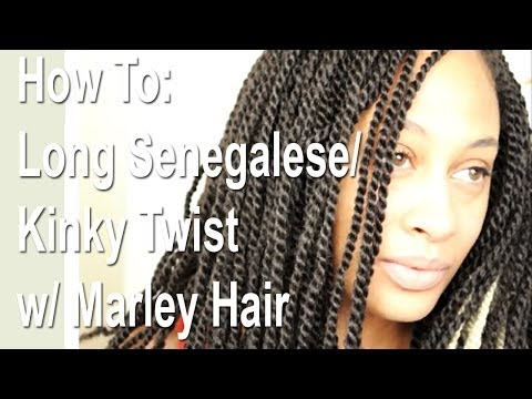 How To: Long Senegalese | Kinky Twist w/ Marley Hair | Close Up Video
