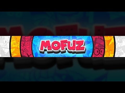 How To Make A Colourful Cartoony Style YouTube Banner on Android (Ps Touch)