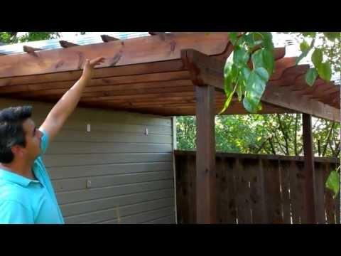 Backyard makeover pergola or Arbor DIY