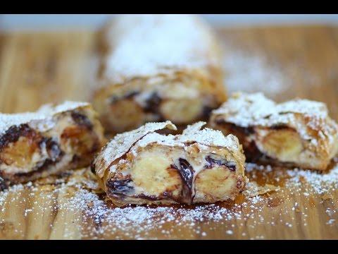 Chocolate Banana Strudel Recipe - Marcel Cocit - Love At First Bite Episode 38