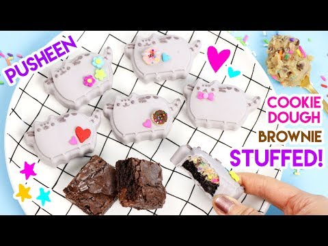 How to Make Pusheen Cookie Dough Brownie Filled Chocolates!