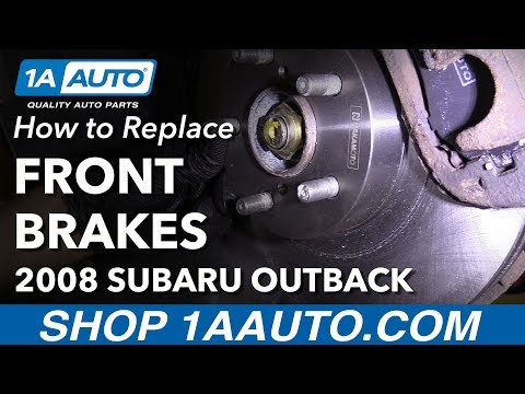 How to Install Replace Front Brake Pads Rotors 2006-09 Subaru Outback