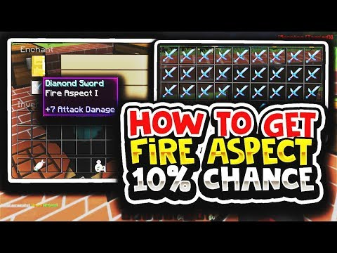 How To Get Fire Aspect on Sword (10% CHANCE)