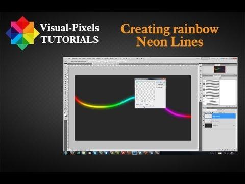 Photoshop Tutorial - Creating rainbow neon lines
