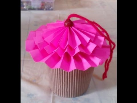 How to DIY Cute Paper Cupcake Chocolate Box - Christmas Gifts - Tutorial .