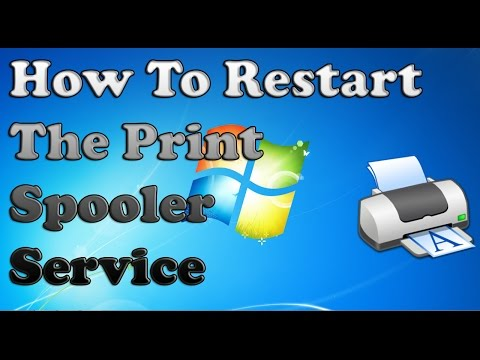 How to Restart the Print Spooler Service in Windows 7