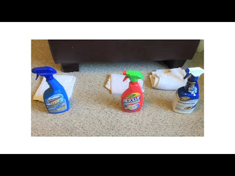 Comparing Upholstery Cleaners Cleaning A Microfiber Couch Scotchgard Resolve Zep