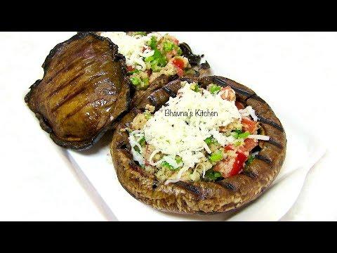 Grilled Stuffed Mushrooms - Video Recipe