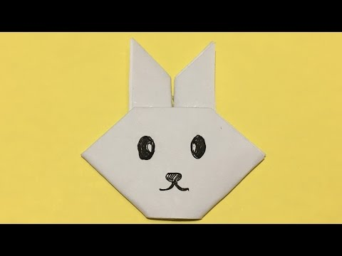 How to make a pretty Rabbit Face Origami Paper Easily|Origami Rabbit Face|rabbit face craft