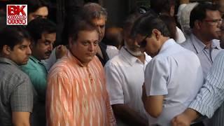 Bollywood Celebrities At Vinod Khanna Funeral ,Akshay Khanna,Amitabh, Danny,