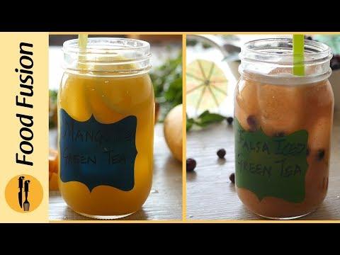 Mango and Falsa iced Green Tea By Food Fusion
