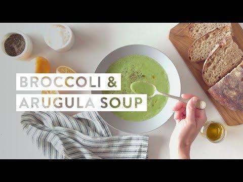 How To Make Broccoli & Arugula Soup