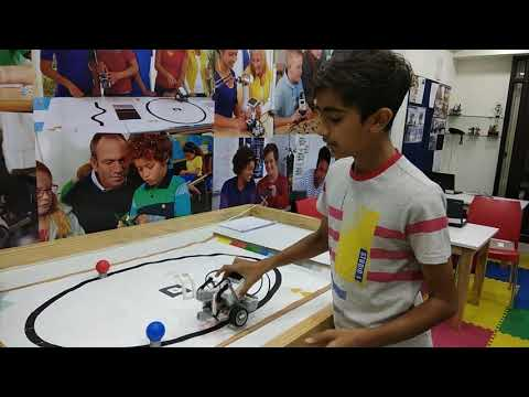 LEGO Ev3 Ball Hitter using colour sensor - RFL Ahmedabad(8980172306)