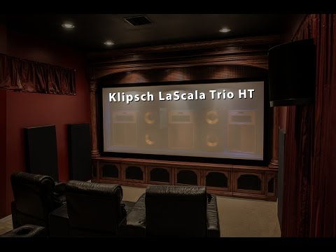 Klipsch LaScala Trio Home Theater Build - Complete Room Tour