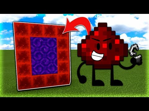 How To Make a Portal to the Redstone Dimension in MCPE (Minecraft PE)