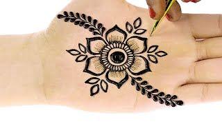 Simple Arabic Henna Mehndi Designs | 3D Mehndi Designs | Gol Tikki #69 @ jaipurthepinkcity