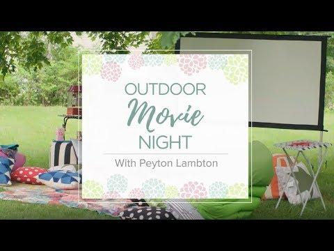 Setup a Backyard Movie Night