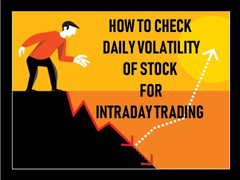 HOW TO CHECK DAILY VOLATILITY OF STOCK FOR INTRADAY TRADING (IN HINDI)