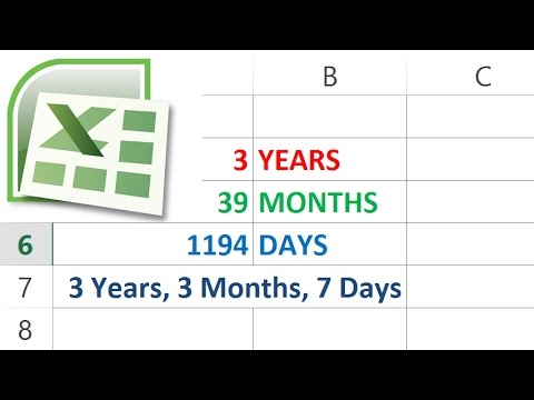 How to Calculate Days Months and Years between Two Dates in Excel