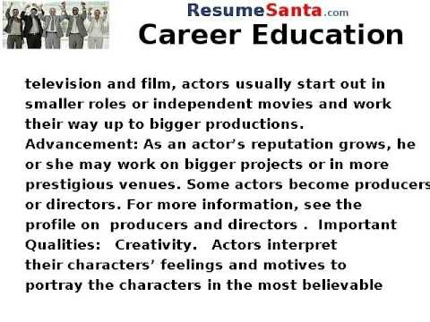 How to Become an Actor - Career Education