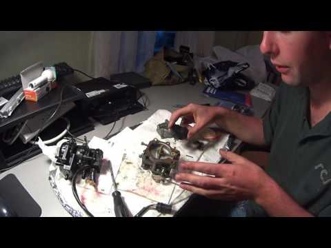1996 Evinrude Carburetor cleaning 40hp outboard motor