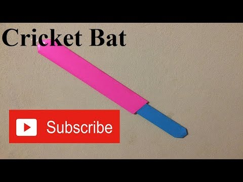 How to make a paper cricket bat