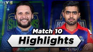 Multan Sultans vs Karachi Kings | Full Match Highlights | Match 10 | 28 Feb | HBL PSL 2020