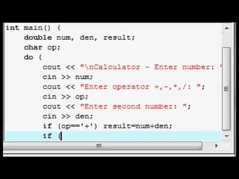 C++ tutorial - calculator