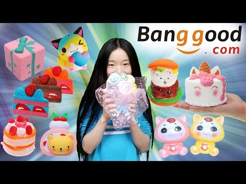Super Cute Banggood Squishy Package!!! Kawaii Squishies Banggood.com