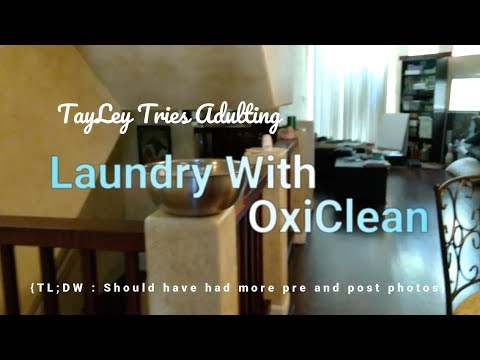 We tried to clean our clothes with OxiClean